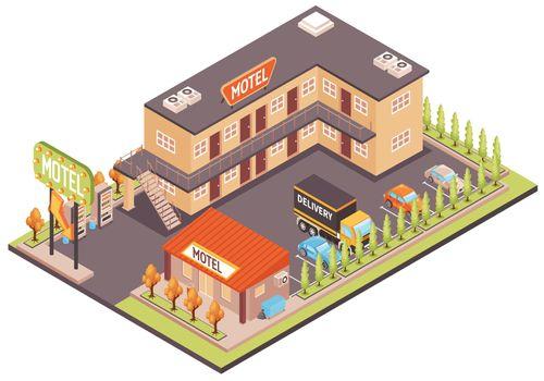 Motel Color Illustration