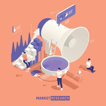 Market Research Isometric Illustration