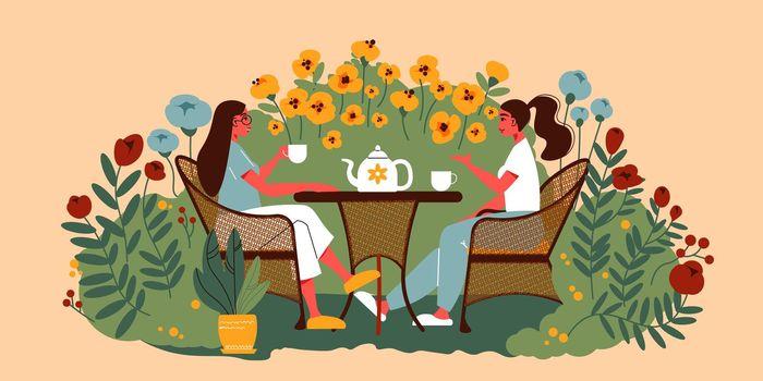Garden Tea Drinking Composition