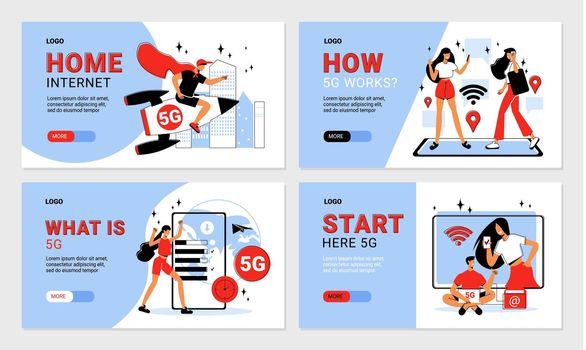 5g Internet Banners
