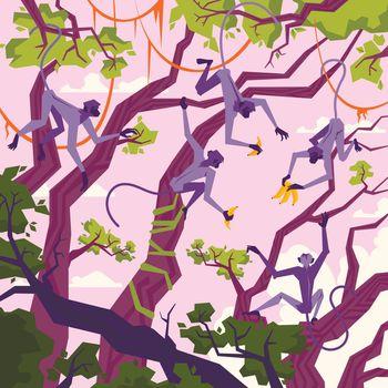 Jungle Landscape Illustration