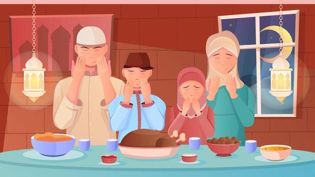 Ramadan Flat Illustration