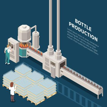 Bottle Production Line Background