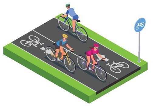 Bicycle Isometric Illustration