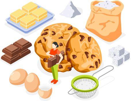 Bakery Isometric Icons