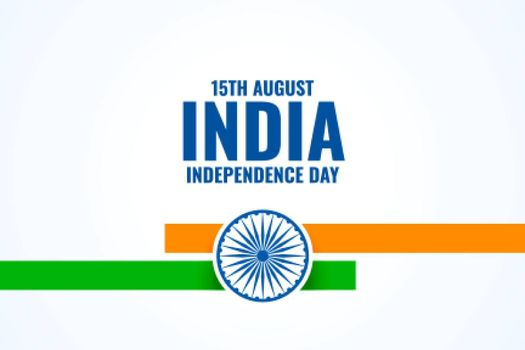 simple 15th august indian independence day background