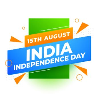 independence day of india modern background