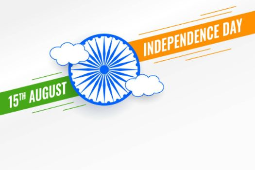 15th august indian independence day simple background