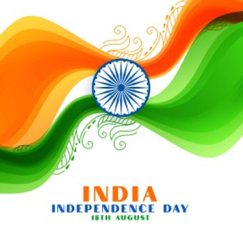 india independence day wavy flag background