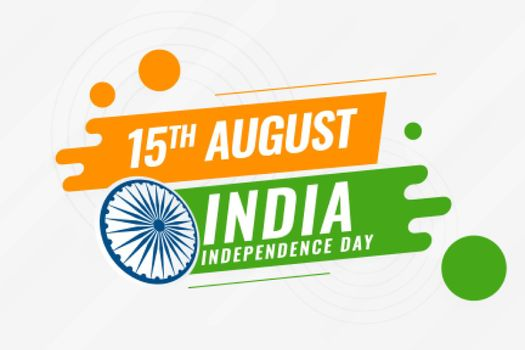creative indian independence day background