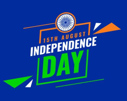 15 august indian independence day card design
