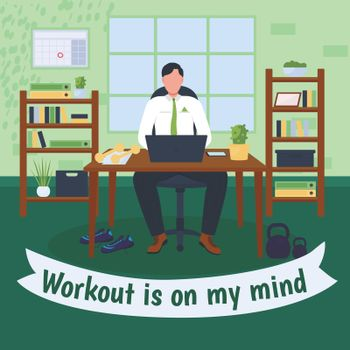 Workout at workplace social media post mockup