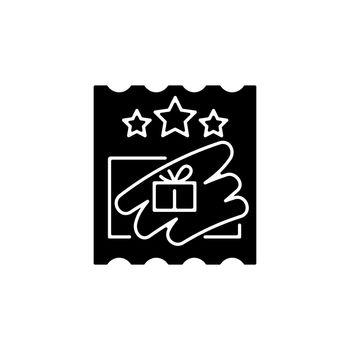 Scratch cards black glyph icon