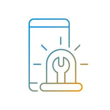 Urgent phone repairs gradient linear vector icon