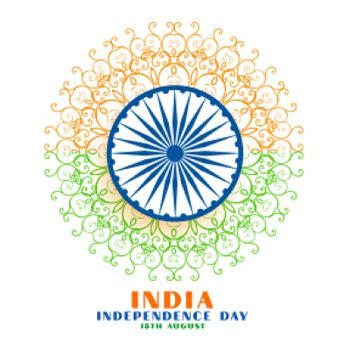 indian independence day creative background