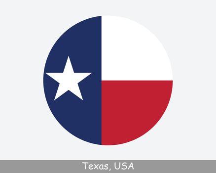 Texas Round Flag