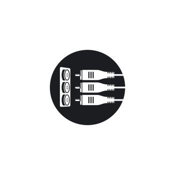 RCA cable icon vector illustration design