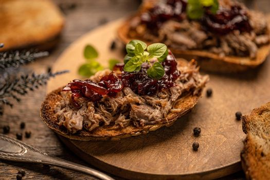 Homemade pulled duck