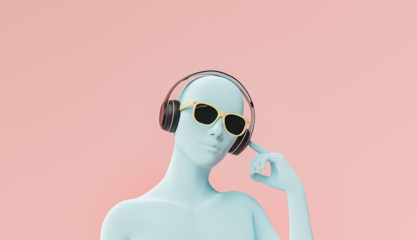 bust listening to music