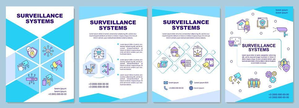 Surveillance systems brochure template