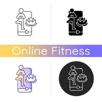 Online yoga tutorial icon.