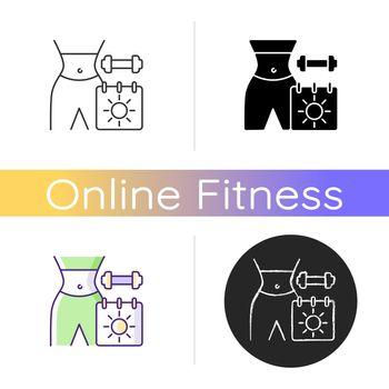 Online seasonal fitness marathons icon.