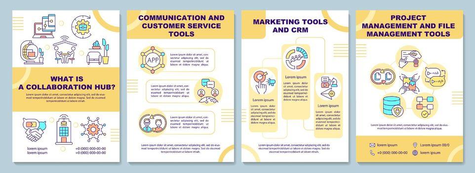 Collaboration hub brochure template