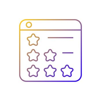 Consumer review networks gradient linear vector icon