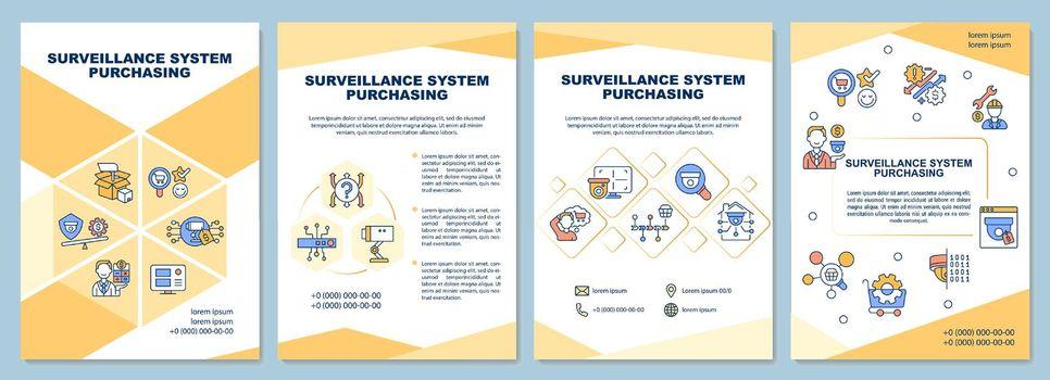 Surveillance system purchasing brochure template