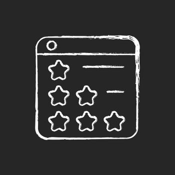 Consumer review networks chalk white icon on dark background