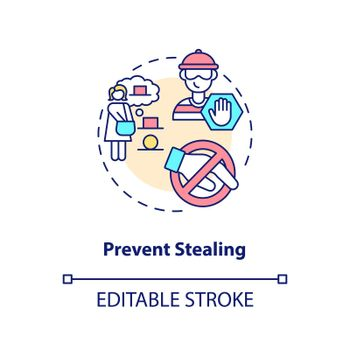 Prevent stealing concept icon