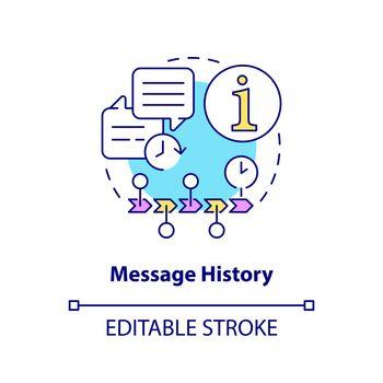 Message history concept icon