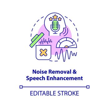 Noise removal concept icon