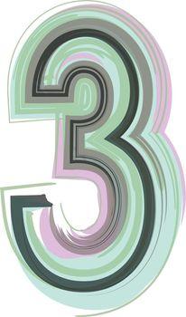 Number 3 - Logo Icon Design