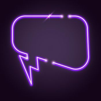 Purple speech balloon design element vector