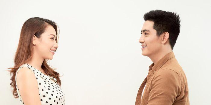Oriental couple image