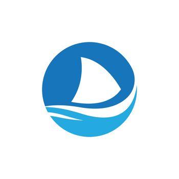 Shark fin logo design