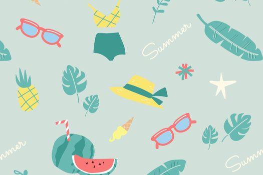 Green fruity summer melon vector