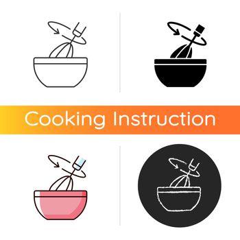 Stir cooking ingredient icon