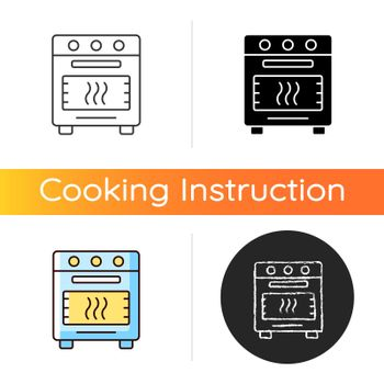 Bake in oven icon