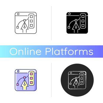 Graphic design platforms icon