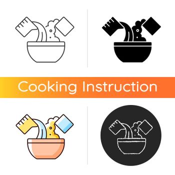 Mixing cooking ingredient icon