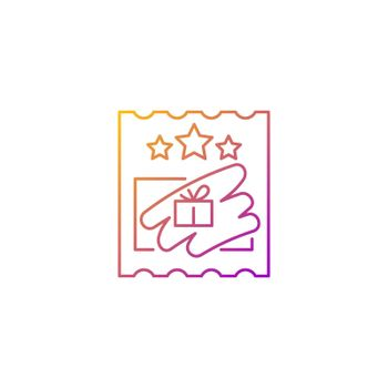Scratch cards gradient linear vector icon