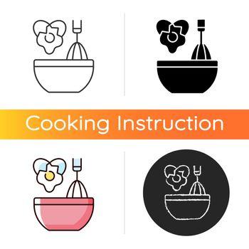 Scramble cooking ingredient icon