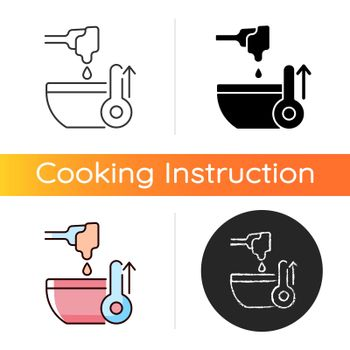 Melt cooking ingredient icon