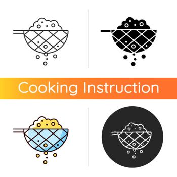 Sift cooking ingredient icon