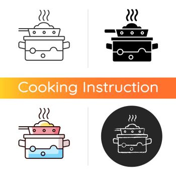 Steam for cooking icon