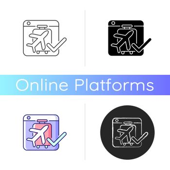 Online booking systems icon