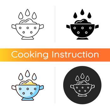 Rinse cooking ingredient icon