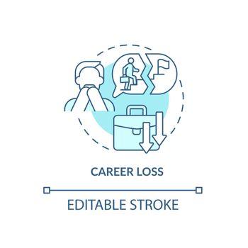 Job loss concept icon